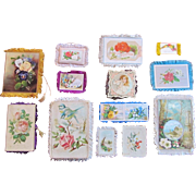 SET-13 Victorian Card  Greeting Card Fringed  Christmas  VICTORIAN