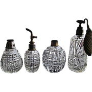 GROUP-FOUR Perfume Atomizer Scent Bottle  Victorian  Cut Glass Crystal