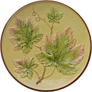 "Majolica 11"" Charger Germany Zell c.1910"