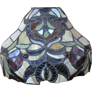 Vintage 200+ Leaded Stained Glass Lamp Shade