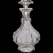 Bohemian Decanter Carafe Cut Glass Crystal