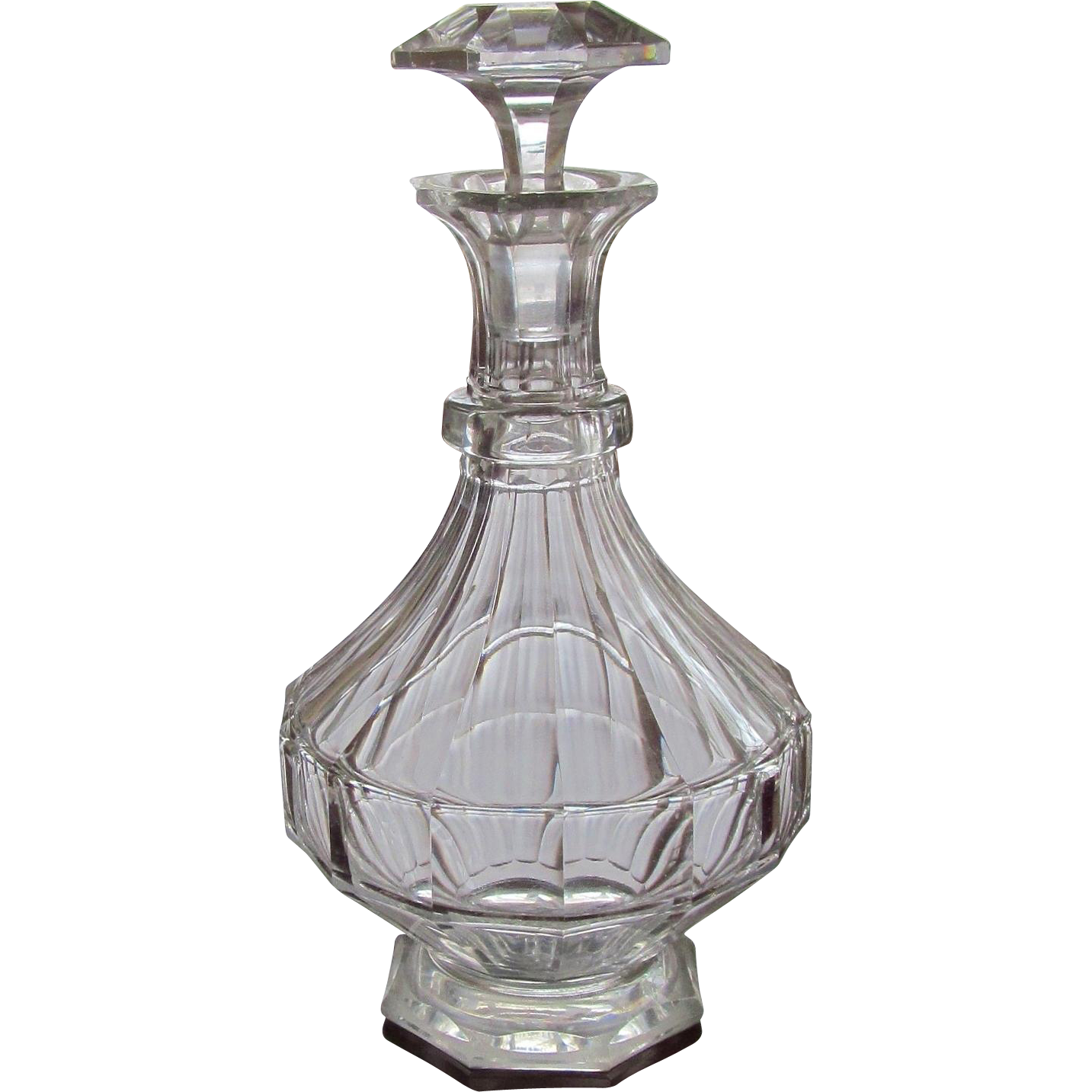 bohemian decanter carafe cut glass crystal from glassloversgallery on ruby lane. Black Bedroom Furniture Sets. Home Design Ideas