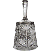 VINTAGE  Cut Glass Bell