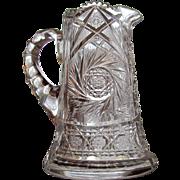 6 1/2 lbs. Pitcher Cut Glass Jug BEAUTIFUL American Brilliant Period 1890's