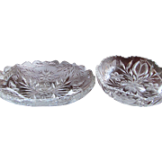Set-2  Pairpoint Bowl Murillo Tulip Cut Glass Crystal c.1910-1915