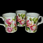 THREE c,1992 Roy Kirkham Fine Bone China Mug English Rose