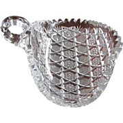 1890's Superb Cut Glass Nappy  Dish