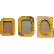 SET-3  Bucklers  Picture Frame  Enameled c.1950's