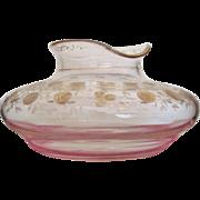 """RARE 11"""" Moser Bohemian Flower Center Vase Gold Gilt  c. 1880-1920"""