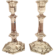 Baccarat Harcourt Candlesticks Signed