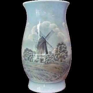 "12""x7"" Bing and Grondahl Vase Ex Lg  OLD MILL Floor Vase"