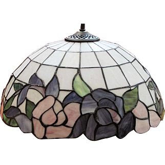 Slag Leaded Stained Glass Lamp Shade  190 Panels