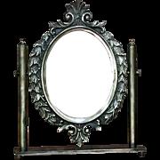 "8 lbs. 15"" Vintage Swivel Mirror Vanity Italy"