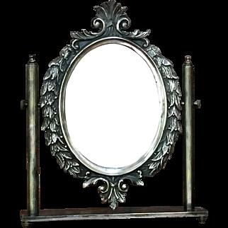 Vintage Swivel Mirror Vanity Italy  8 lbs.