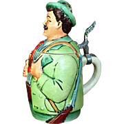 Eckhardt and Engler Stein Beer Hunter HAND PAINTED West Germany c.1950