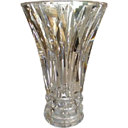 "SIGNED 1950's St. Louis Vase Crystal Cut Glass 3 lbs.7""x 5"""