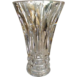 """1950's St. Louis Vase Crystal Cut Glass 3 lbs.7""""x 5"""" SIGNED"""