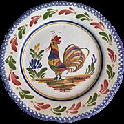 """Keraluc QUIMPER Plate Vintage Signed P Y  10"""""""