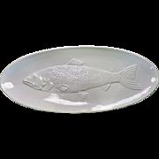 "Rare 22"" Williams Sonoma Platter Fish Salmon ITALY"