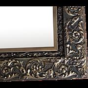 """1880's 31""""x26"""" Eastlake Wood Frame Gesso Mirror 16 1/2 lbs."""