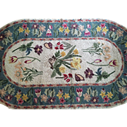 "4'7""x2'6"" Petit Point Hook Collection RUG Virgin Wool VINTAGE"