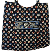 Vera Bradley Medium Tote Bag NIGHT OWL Retired Pattern
