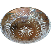 """Vintage Waterford Bowl 9""""x4"""" Colleen Pattern 4 1/2 lbs."""