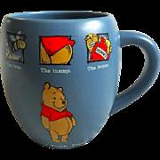 20 ozs. VINTAGE Disney Store Winnie The Pooh Mug The Bees The Tummy The Hunny