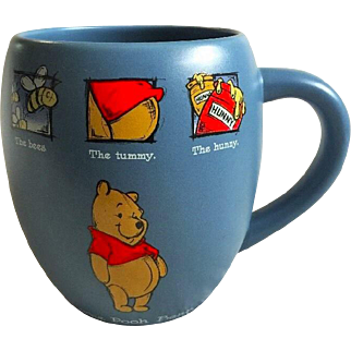 20 ozs. VINTAGE Disney Store Winnie The Pooh Mug The Bees The Tummy The Hunny