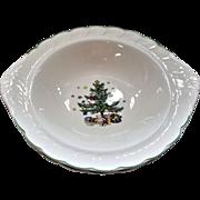 "c.1986 11 1/4"" Nikko Happy Holidays Serving Bowl Vegetable Bowl"