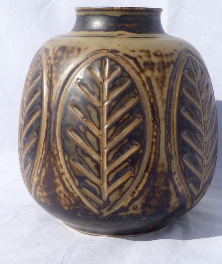 1950s Denmark Studio Stoneware Vase by Gerd Bogelund for Royal Copenhagen