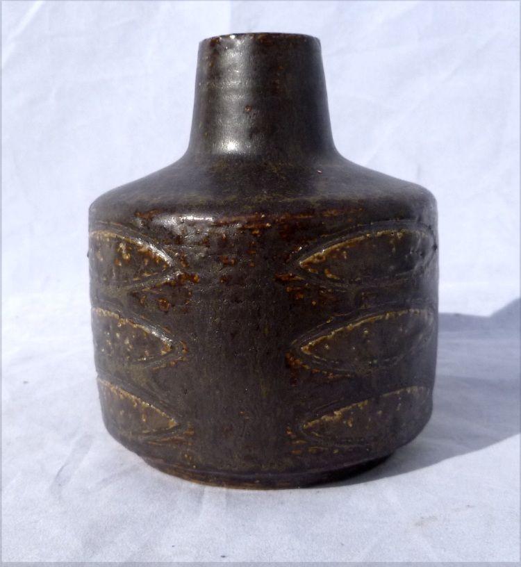 1950s Studio Pottery Vase by Per Linneman-Schmidt for Palhus Denmark