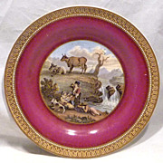 19th Century Prattware Plate The Waterfall