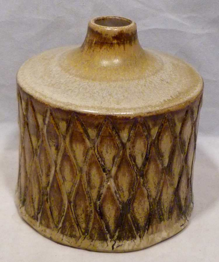 Erik Ploen Norway Vase Mid Century Studio Pottery