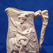 19th C. English  Relief Molded Jug Garibaldi