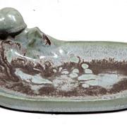 Denbac French Art Pottery Tray with Snail