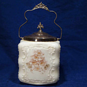 Wavecrest Opal Glass  Biscuit / Cracker Jar C F Monroe Co.