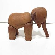 Midcentury  Kay Bojesen Denmark Teak Wood Elephant Figure