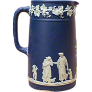 Circa 1900 Wedgwood England Jasperware Tall Pitcher