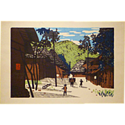 "Mid Century Japanese Woodblock Print by Kiyoshi Saitō ""Summer in Aizu"""