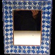 MCM Michael Andersen Denmark Pottery Framed Mirror / Tray