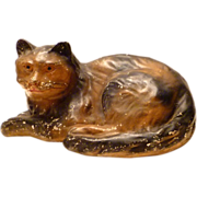 Lifesize Vintage Folk Art Chalk Cat
