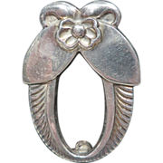 Georg Jensen Sterling Cactus Flower Pin / Brooch No. 227
