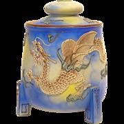 TT Takito Japan Porcelain Moriage Dragonware Humidor