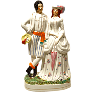 "16"" Staffordshire Figure Louis Duke of Hesse & Princess Alice"