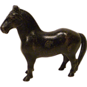 Arcade Cast Iron Horse Bank with Original Label