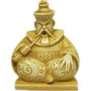 Art Deco Porcelain Figural Incense Burner Oriental Opium Smoker