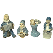 Royal Copenhagen 4 Piece Children's Band Figures