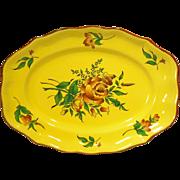 "Elyssee by Luneville Faience de France Louis XV Strasbourg Yellow 14"" Platter"