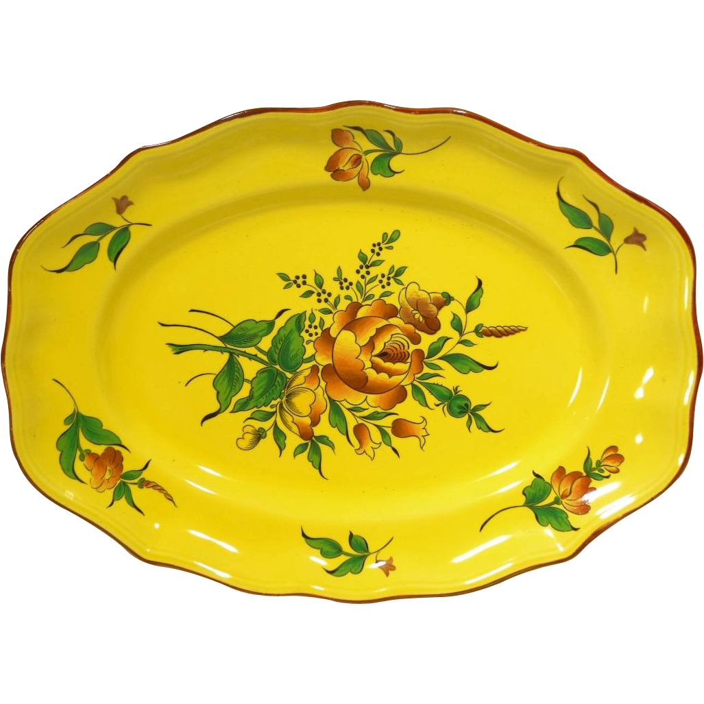 Luneville France  City new picture : Elyssee by Luneville Faience de France Louis XV Strasbourg Yellow 14 ...